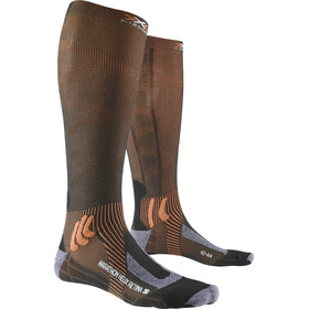 X-Socks Marathon Helix Retina Calcetines, stone grey melange/x-orange